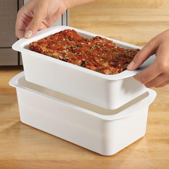 2 Pc Microwave Meatloaf Pan Zoom
