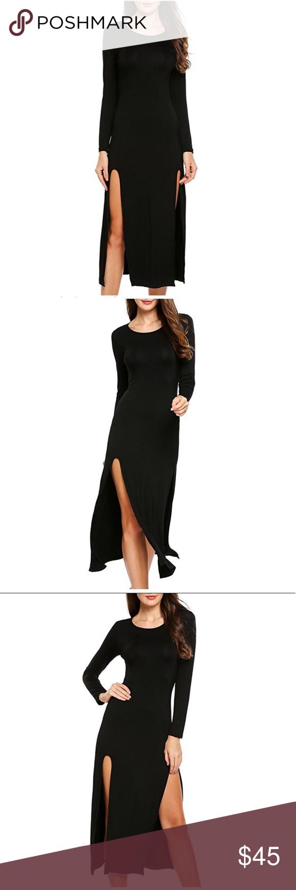 Last onesexy u sleek cotton maxi dress black boutique my