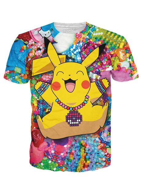 46f3d5c8 This is THE #pikachu shirt that every kandi kid needs. | Men's Rave ...