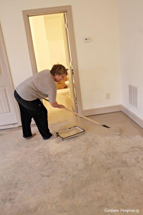 refinishing concrete floors basement