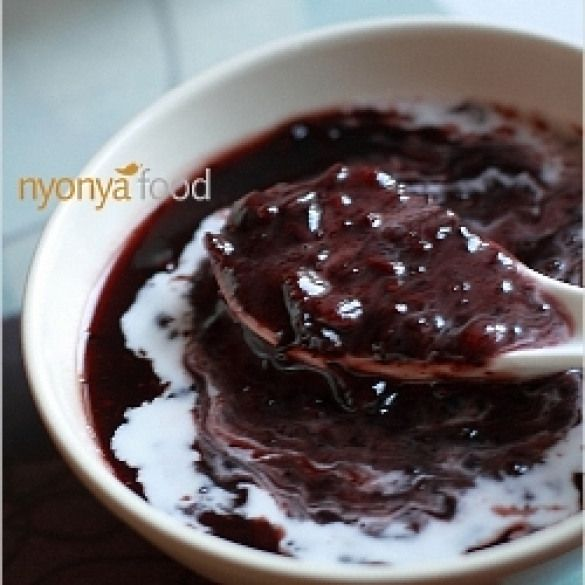 Black Sticky Rice Dessert. Black sticky rice dessert with ...