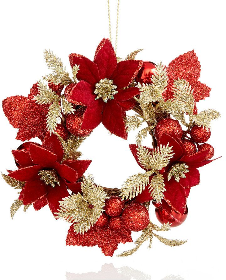 holiday lane red berry wreath christmas ornament created for macys