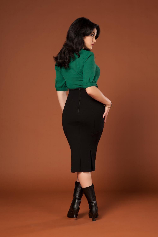 Vicky Vixen In Denim Skirt-pic2734