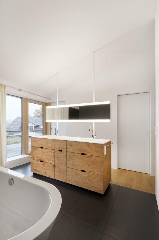 Neubau Einfamilien-Haus am Hang im Oberallgäu u2013 Inspiration und - eckschrank badezimmer weiß