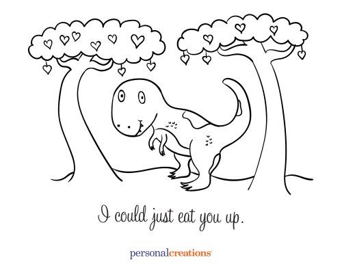 Free Valentines Day Coloring Pages Printables Holiday Be My Rhpinterestes: Valentine Coloring Pages Dinosaur At Baymontmadison.com