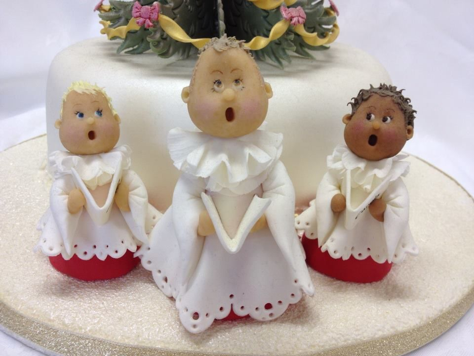 Cute Carol Singer Figures, perfect for a Christmas Cake