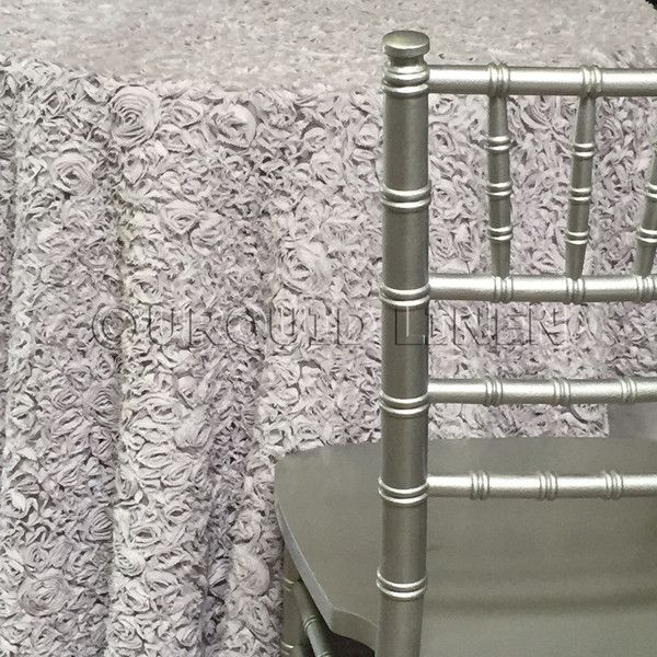 Lush Collection Tablecloth - Silver