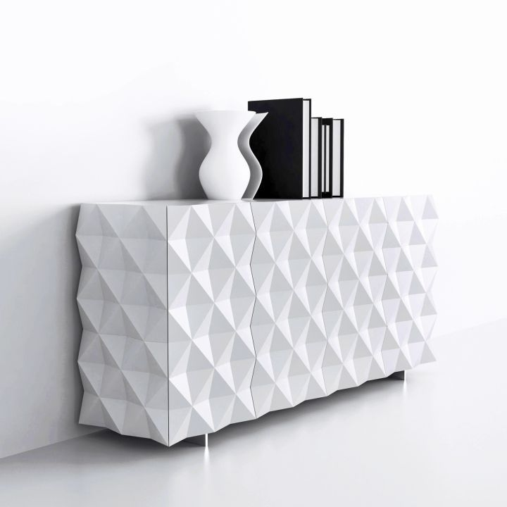 full textured white lacquer credenza in 2019 | Dining ... on consoles and credenzas, made in usa modern credenzas, modern sideboards with sliding door, country style credenzas, industrial modern credenzas, post modern credenzas, modern sideboards and hutches,