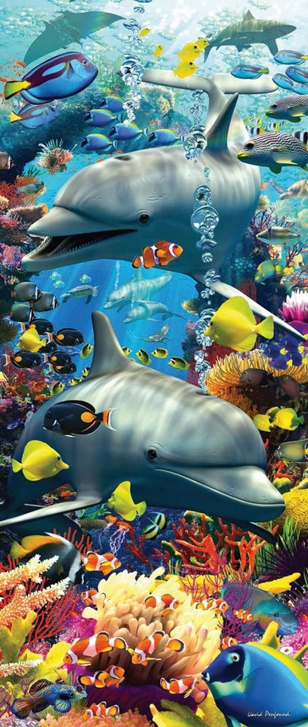 Vertical Mini Puzzles By Ravensburger Ages 9 Finished Size 6 Dolphins Ocean Animals Water Animals