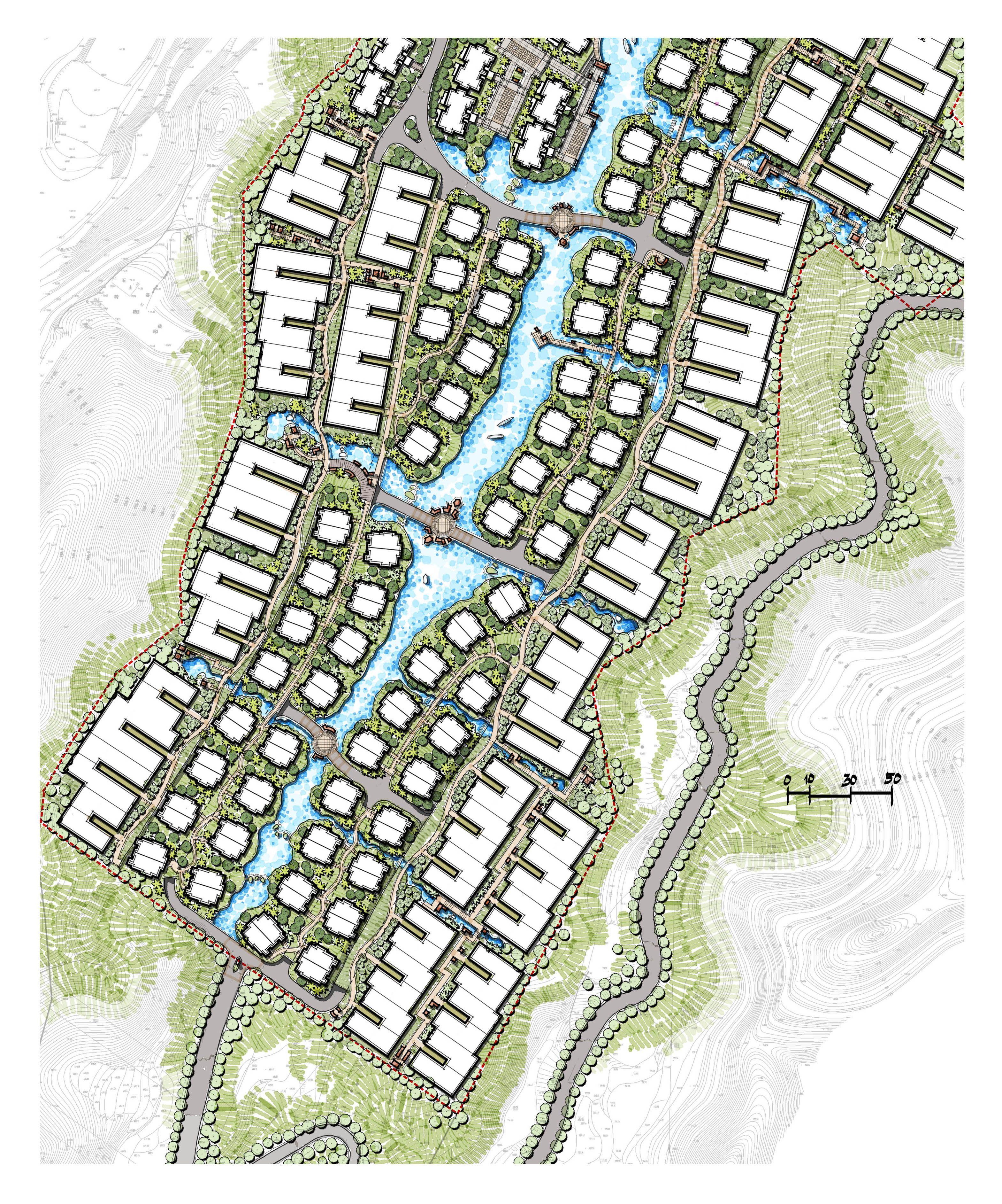 Mountain Development Mountain Villas 3 Days Work Master Plan Mountain Landscape Design Man Made River Casc Master Plan Concept Architecture Urban Planning