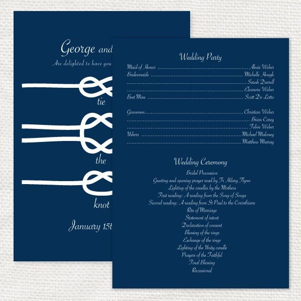 Tying The Knot Ceremony Wording Home Weddings Programs Tie