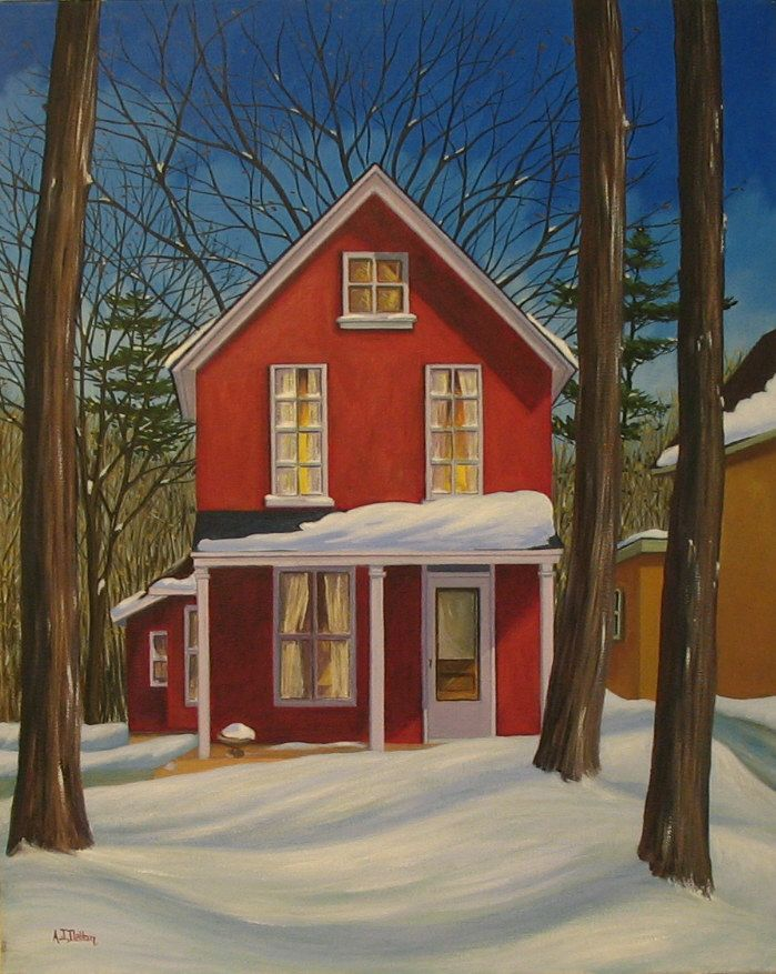 Paintings Of Houses Bing Images