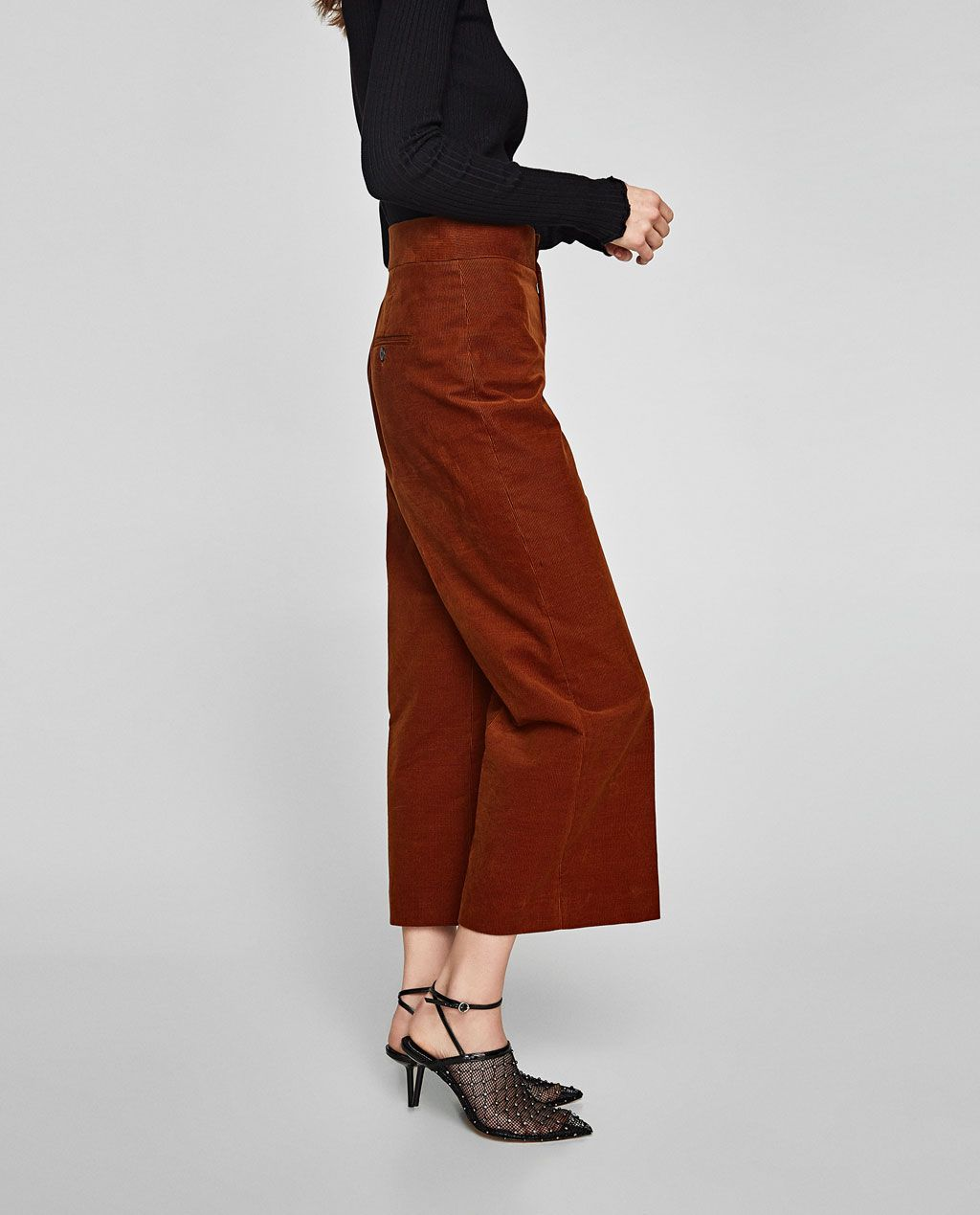 Image 4 of FINE CORDUROY CULOTTES from Zara   My Style   Corduroy ... 8be491e072