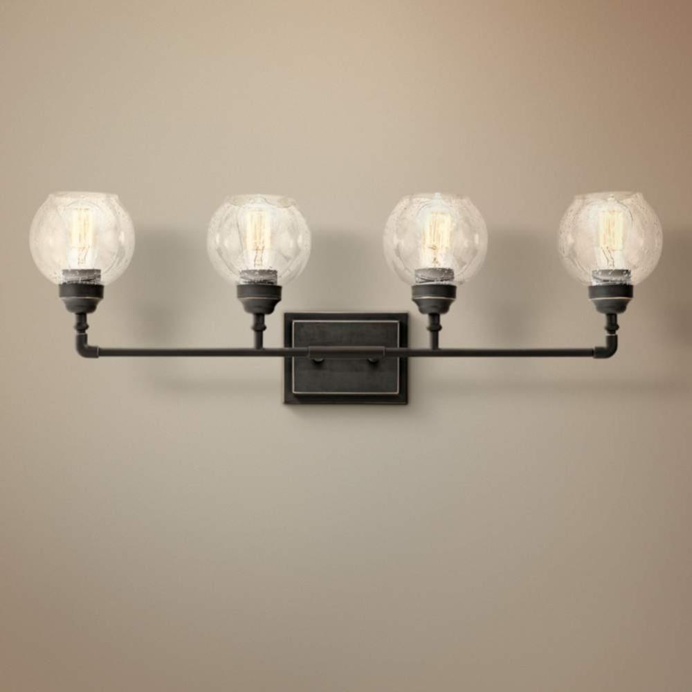 Photo of Kichler Niles 33 1/4″ Wide Olde Bronze 4-Light Bath Light – #16X64   Lamps Plus