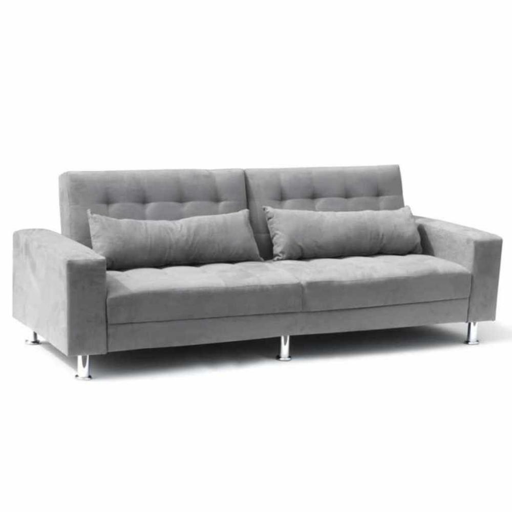 Schlafsofa Sofabett Couch Klappsofa Mikrofaser 3 Sitzer