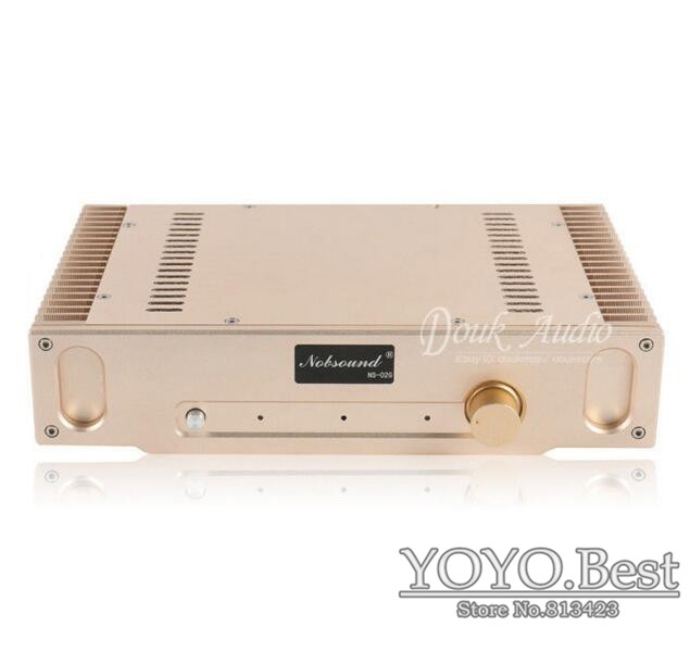183.08$  Buy now - http://ali6lo.worldwells.pw/go.php?t=32675756694 - Nobsound NS-02G Perfect Hood 1969 Gold Pure Class A finished Power AMP Amplifier Finished Product 110~240V