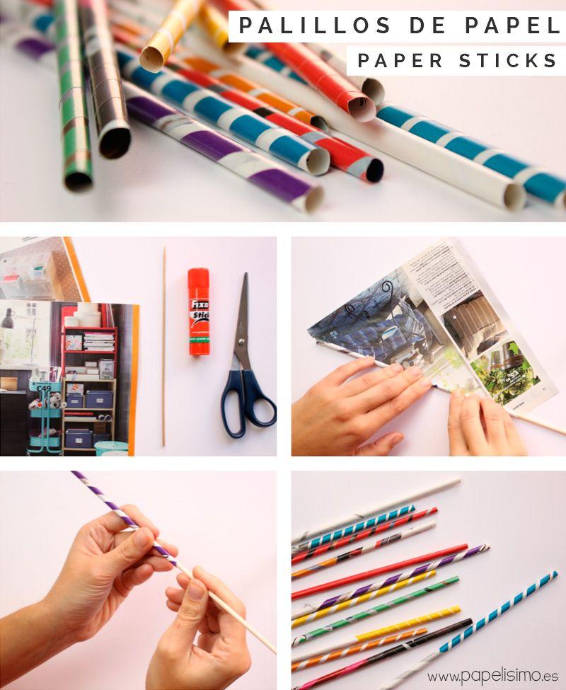Si necesitas palillos para manualidades tienes dos - Manualidades en papel ...