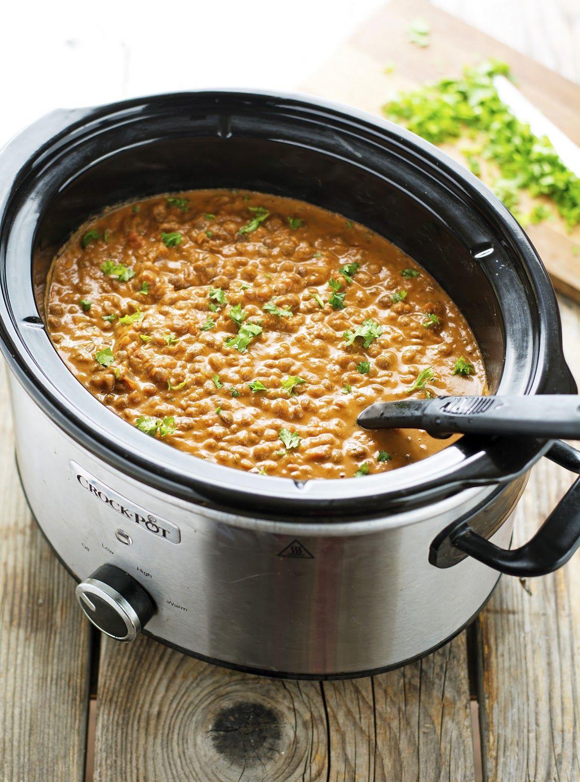 (Vegan) Easy Crock-Pot Curry Lentils