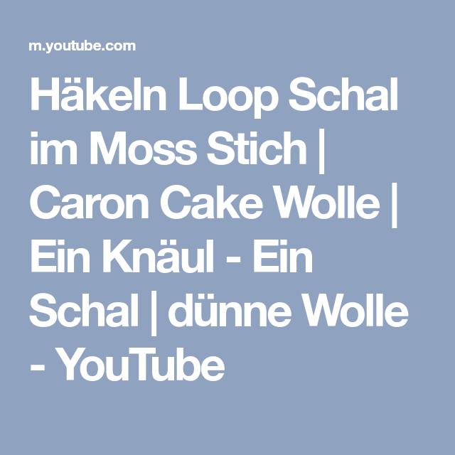 Häkeln Loop Schal Im Moss Stich Caron Cake Wolle Ein Knäul Ein
