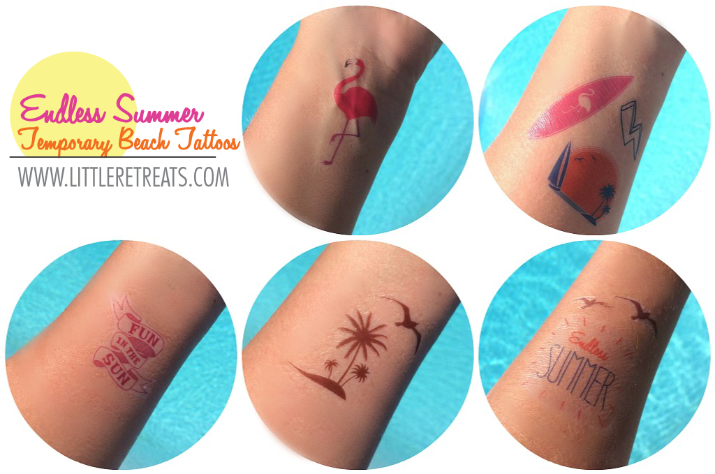 Temporary Tattoos made with Cricut Explore Little