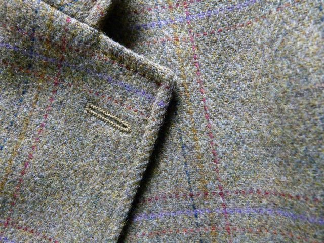 Tweed hacking jacket purple overcheck size L-XL For Sale in Warwick, Warwickshire | Preloved