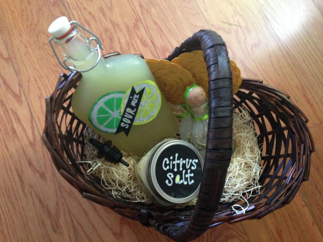 Diy margaritathemed gift basket wedding present