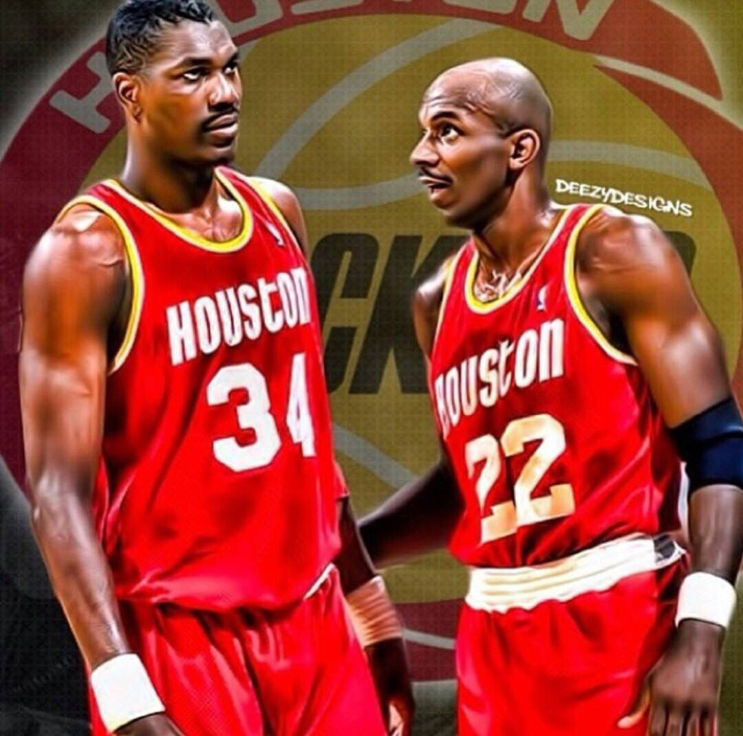 Hakeem The Dream and Clyde The Glide Houston Rockets