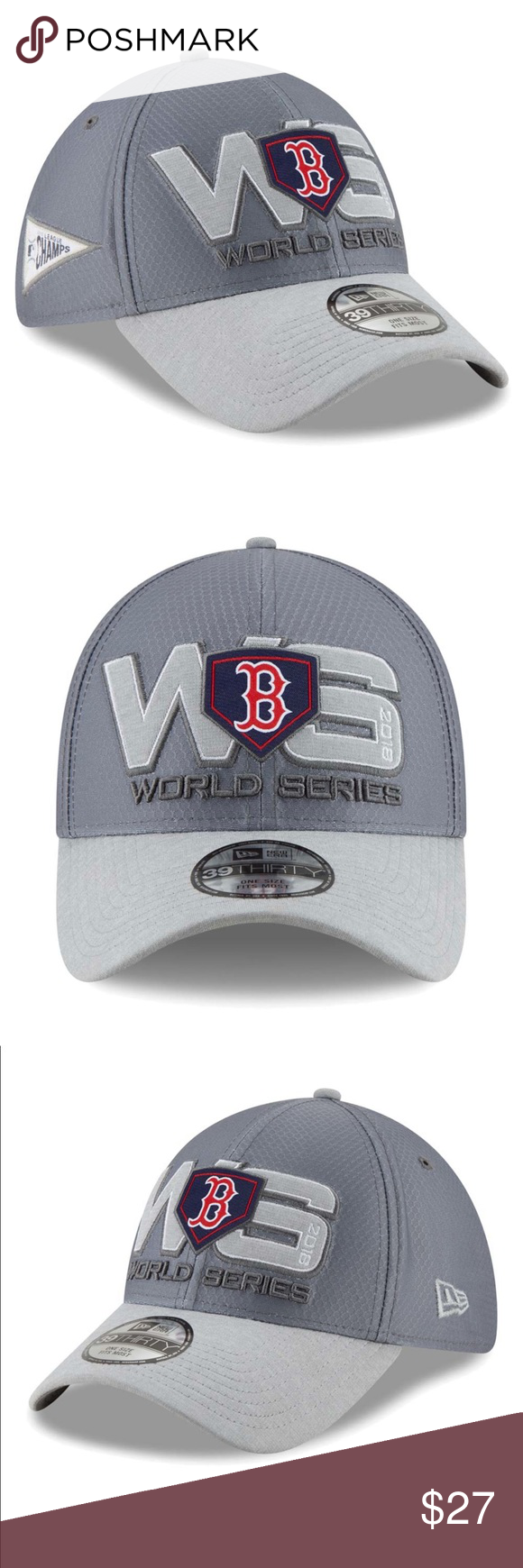 best service a0088 12a2e NEW Red Sox 2018 American League Champions Hat Grab this 2018 American  League Champions Locker Room 39THIRTY Flex Hat from New Era for the Red Sox  fan in ...