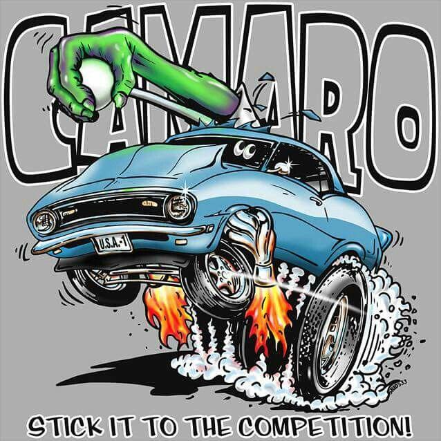 camaro z28-Ger Peters | Caricature | Automotive art ...