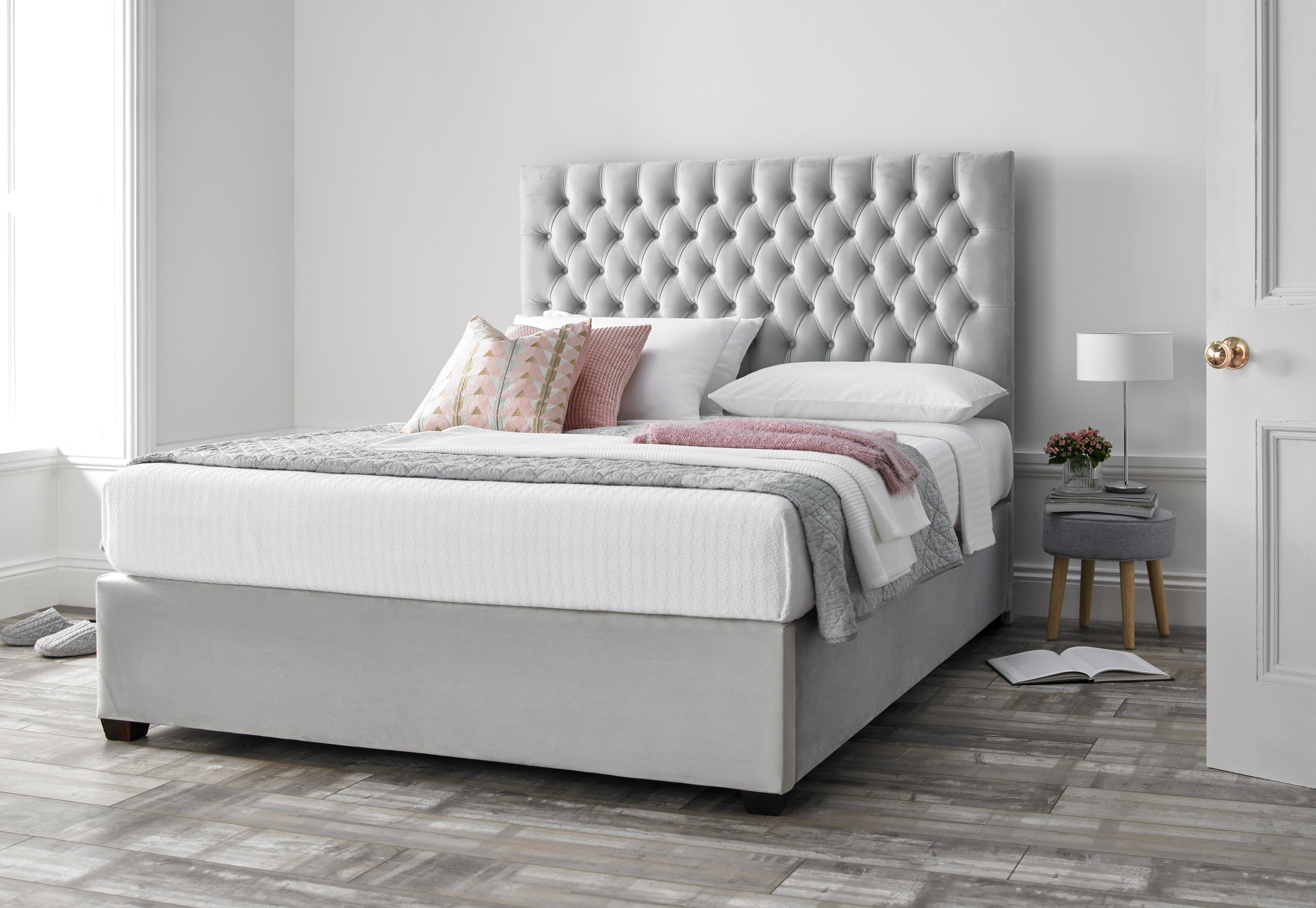 We Love Our New Upholstered Soft Grey Bed The Light Soft Grey