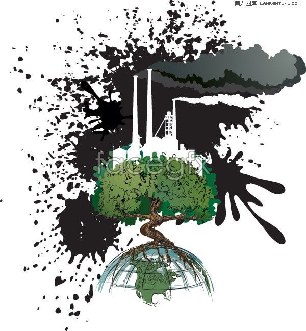 A response to environmental pollution topic vector illustration
