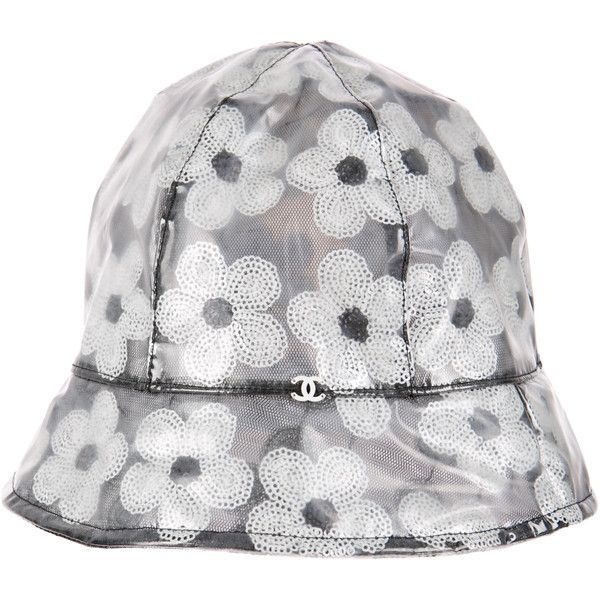 Chanel Rain Hat ( 265) ❤ liked on Polyvore featuring accessories ... 5725e98ec11
