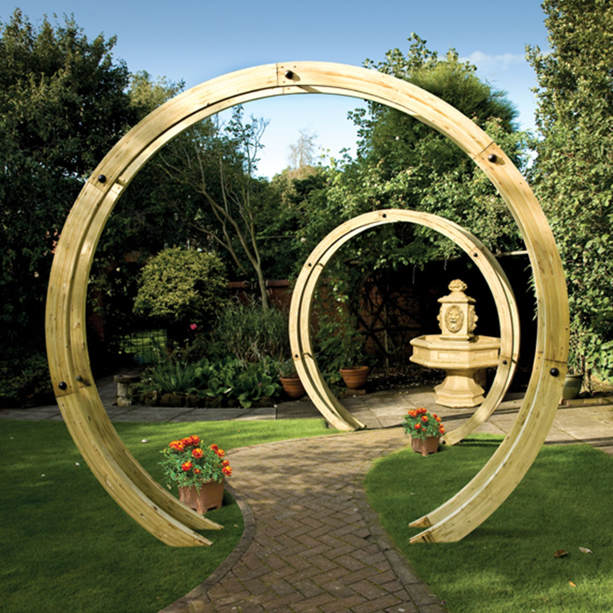 Grange Freestanding Flower Circle Wooden Pergola Departments