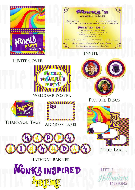 Willy Wonka Printables