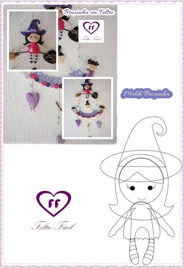Moldes para hacer muñecas en fieltro para Halloween | mi angel ...