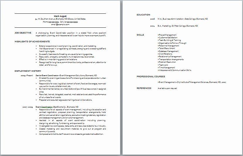 20 event Coordinator Job Description Resume (With images
