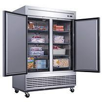 Dukers 40 7 Cu Ft 2 Door Commercial Freezer In Stainless Steel Commercial Refrigerators