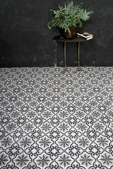 Beautiful, simple space, made special by awesome colour, composition, and tiling! #InteriorDesign