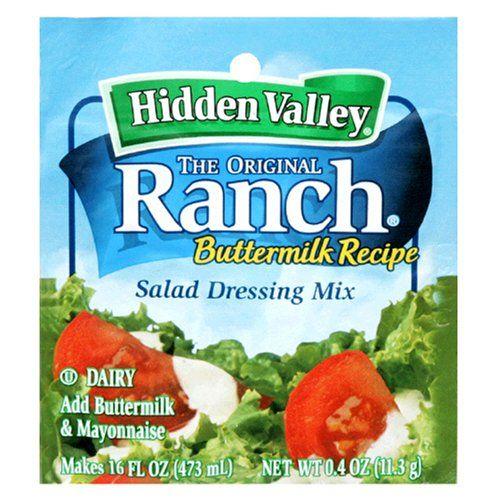 Hidden Valley The Original Ranch Salad Dressing Mix Buttermilk 0 4 Oz Hidden Vall Hidden Valley Ranch Dressing Buttermilk Recipes Dry Ranch Dressing Mix