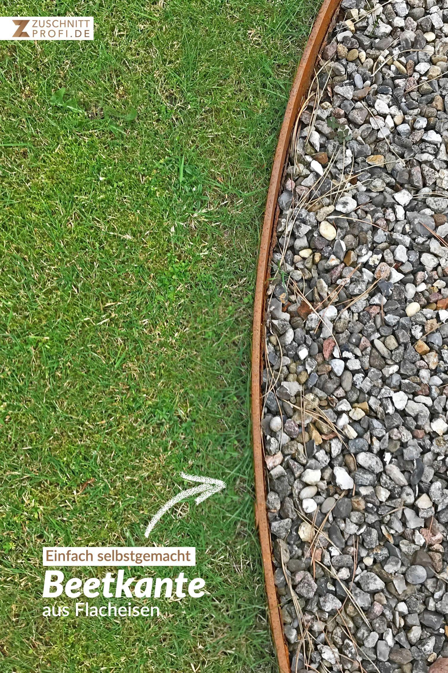 Rasenkante Aus Stahl In 2020 Rasenkanten Wohnen Und Garten Moderner Garten