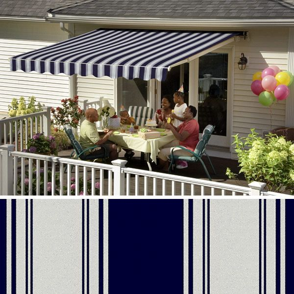 Sunsetter Awnings Acrylic Fabrics Retractable Deck And Patio