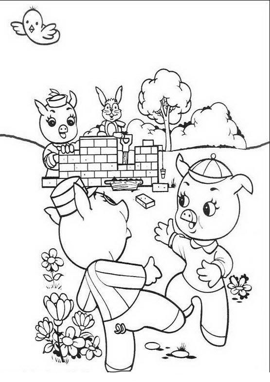 Die Drei Kleinen Schweinchen Ausmalbilder Malvorlagen Zeichnung Druckbare Nº 4 Drei Kleine Schweinchen Die Drei Kleinen Schweinchen Kostenlose Ausmalbilder
