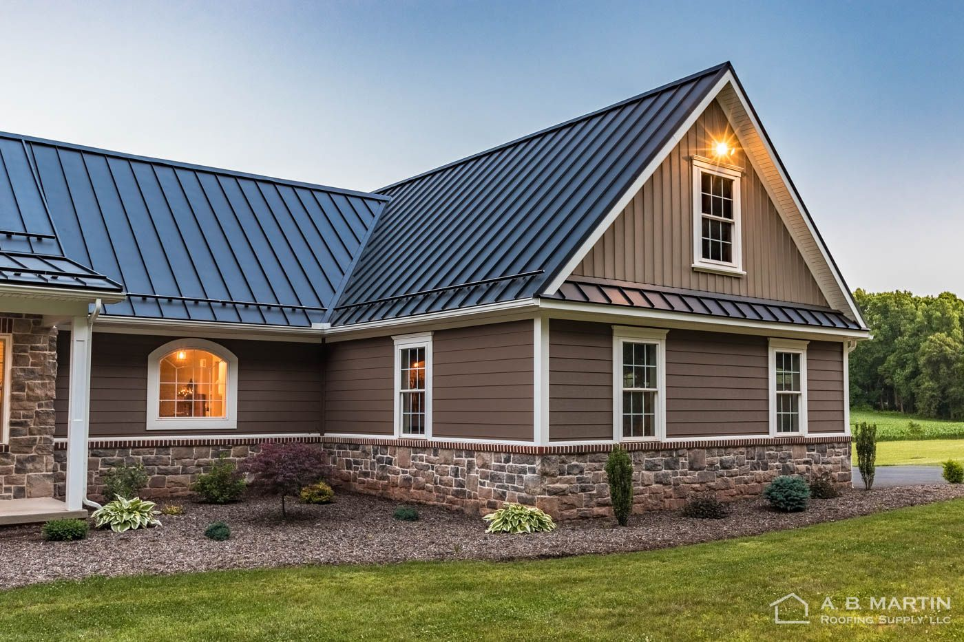 Pin By Samantha Phillips On Final House Design Metal Roof Houses Metal Roof Roof Design