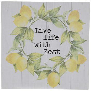 Live Life With Zest Lemon Wreath Wood Wall Decor Hobby Lobby 5260948 In 2021 Lemon Wreath Wood Wall Decor Lemon Kitchen Decor