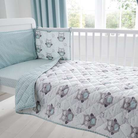 Little Owls Nursery Coverlet And Per Set