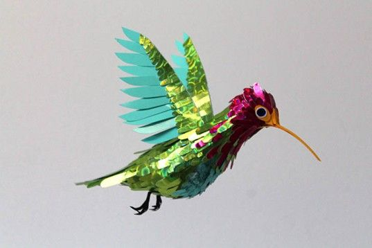Colombian Designer Diana Beltran Herrera Creates Delicate Birds From Colorful Paper