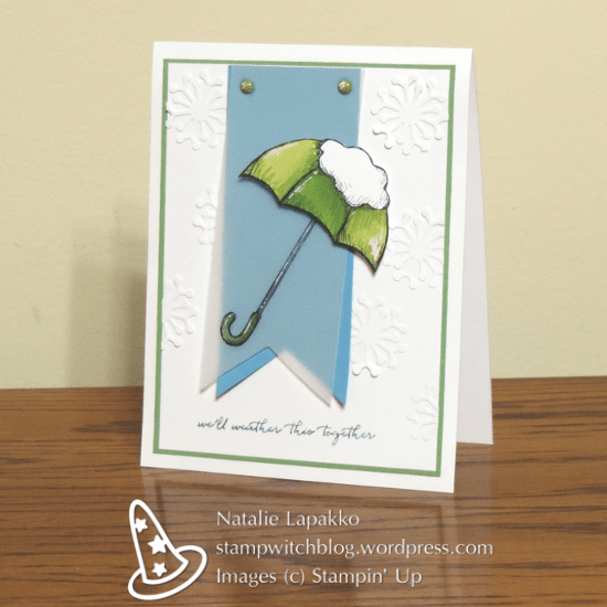 Homemade sympathy card with Weather Together and Botanical Builder Framelits from Stampin' Up! Design by Natalie Lapakko.