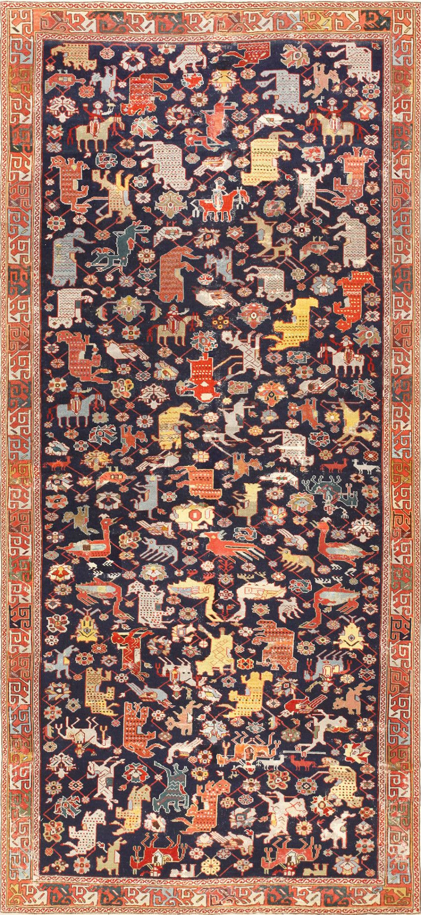 Caucasian Rug with Animal Design, 1.37 m x 2.74 m, Circa 1860, Nazmiyal gallery p.42