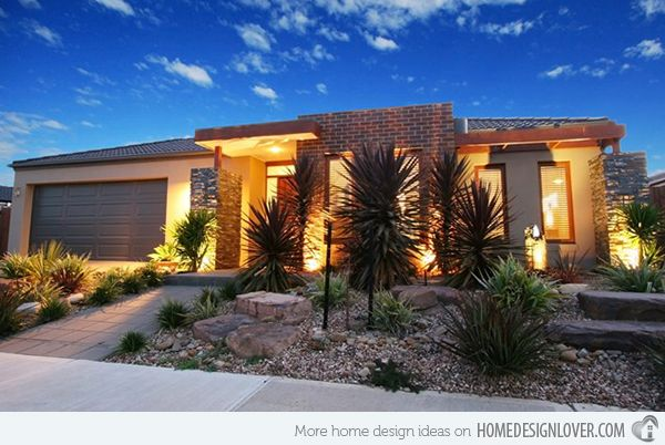 Modern front yard on pinterest modern landscaping for Desert landscaping ideas