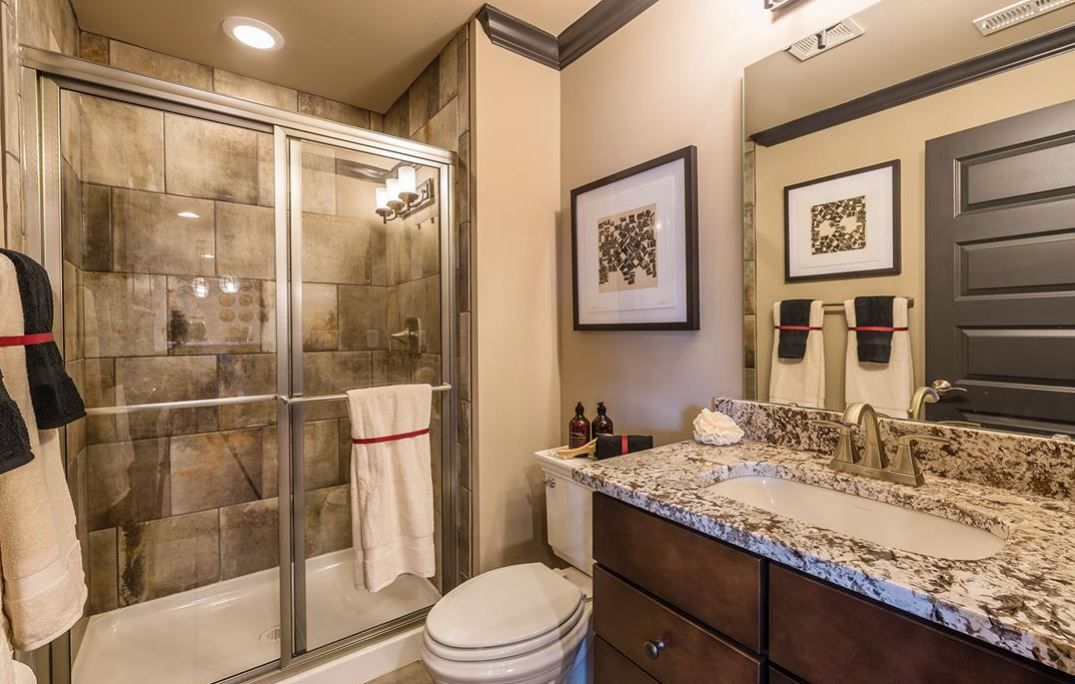 Cotto Contempo 13x13 Wall Street Cc13 Brick Joint Wall Tile With Brushed Nickel Shower Door Trim Shower Wall Tile Shower Doors Shower Wall